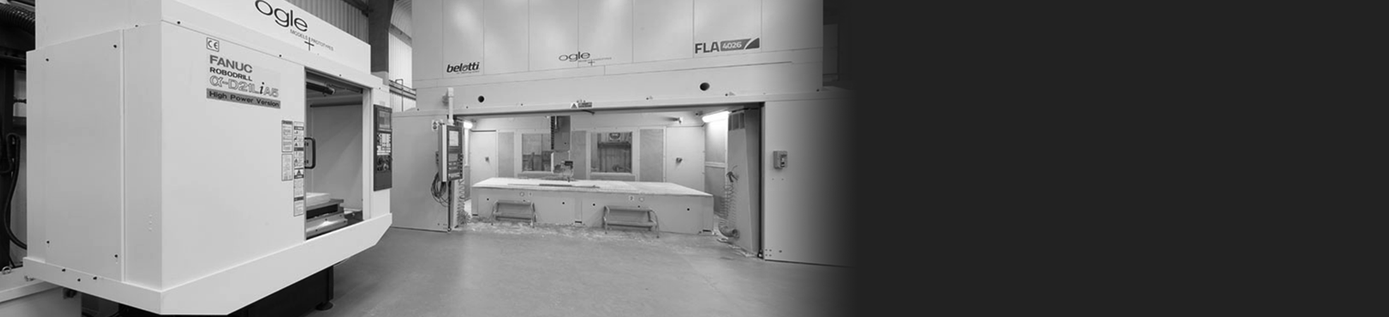 Large capacity CNC machining facility